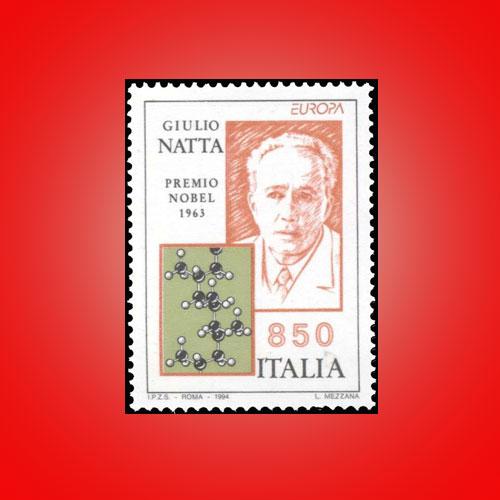 Italian-stamp-featuring-Giulio-Natta