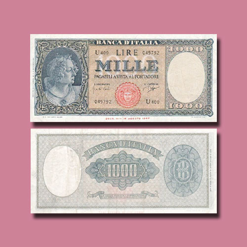 Italy-1000-Lire-banknote-of-1948-1961