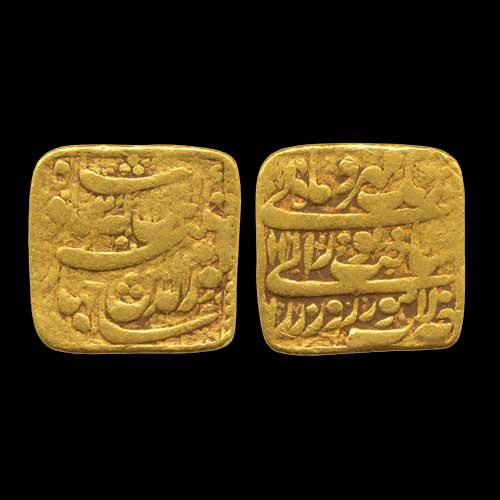 Jahangir's-Gold-Heavy-Square-Mohur-Sold-for-INR-2,00,000