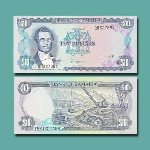 Jamaica-10-Dollars-banknote-of-1981