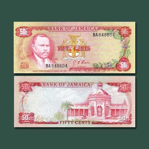 Jamaica-50-Cents-banknote-of-1970