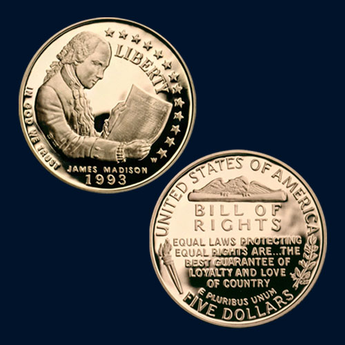James-Madison-5-Dollar-Commemorative-Coin