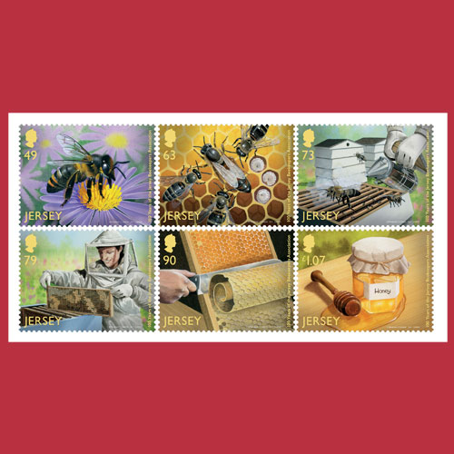 Jersey-Post's-Honey-Scented-Stamps