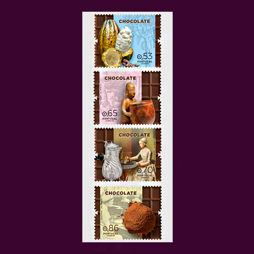 Journey-of-Chocolate-illustrated-on-Portugal-stamp