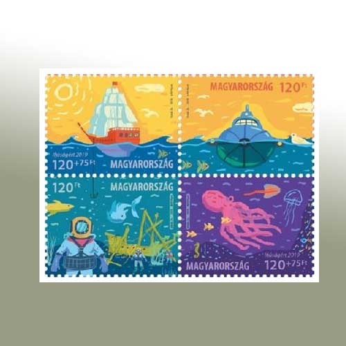 Jules-Vernes's-Captain-Nemo-on-stamp