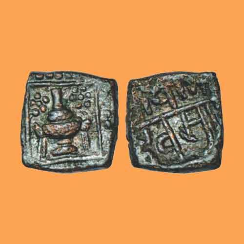 Kalasha-on-Copper-Coin-of-Vaghela-Dynasty