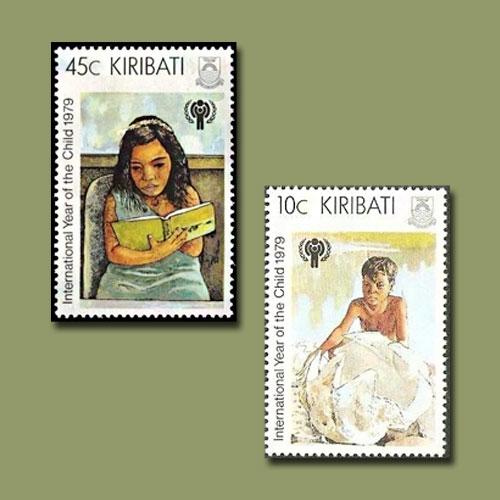 Kiribati's-Stamps-for-International-Year-of-the-Child