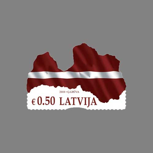 Latvia's-First-Irregular-Shaped-Stamp