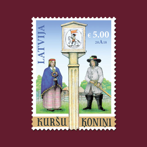 Latvia's-Curonian-Kings-Stamp