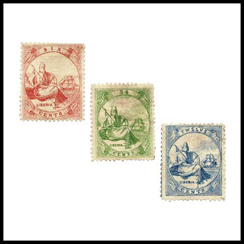 Liberia's-First-Postage-Stamps