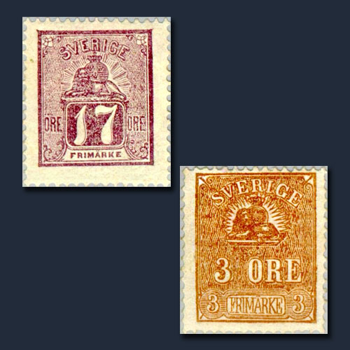 Lion-and-Arms-Type-Stamps-of-Sweden