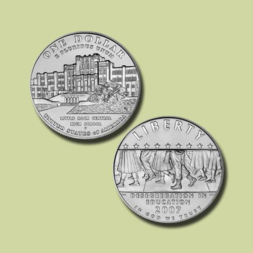 Little-Rock-Central-High-School-Desegregation-Silver-Dollar