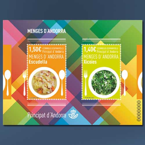 Local-Cuisine-depicted-on-Andorra-stamps