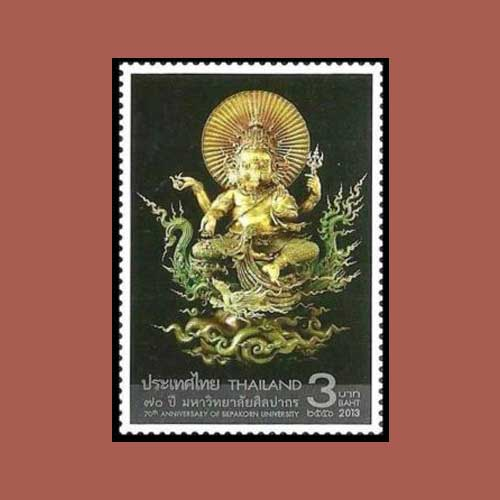 Lord-Ganapati-on-Thailand-stamps