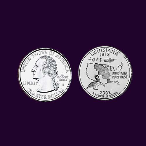 Louisiana-State-Quarter-Dollar