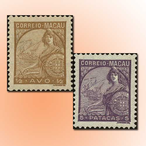 Macau's-Portugal-Allegory-Stamps