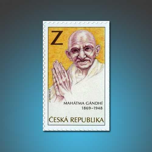 Mahatma-Gandhi-Featured-on-New-Czech-Stamp