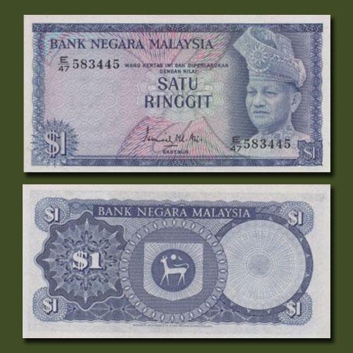 Malaysia-1972-1976-2nd-Series-1-Ringgit-Banknote