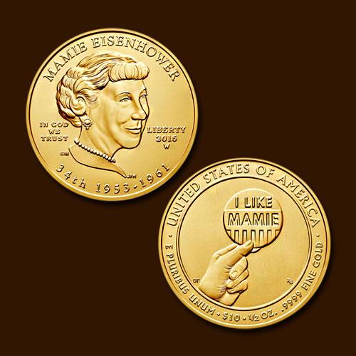 Mamie-Eisenhower-10-Dollars-Commemorative-Coins-