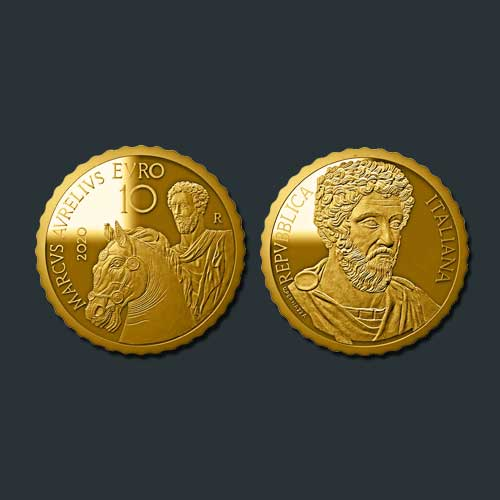 Marcus-Aurelius-Honored-on-a-Gold-Coin