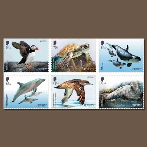 Marine-life-on-stamp-