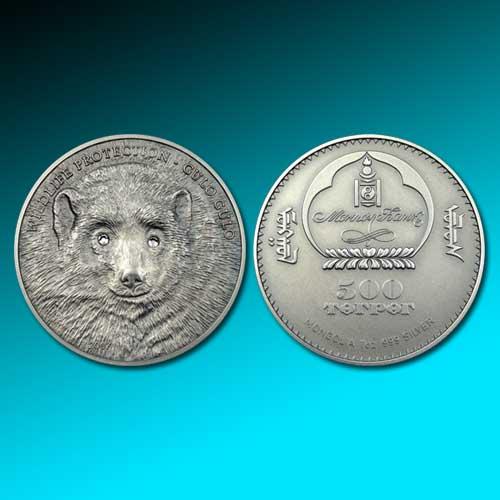 Marten-bear-on-silver-coin