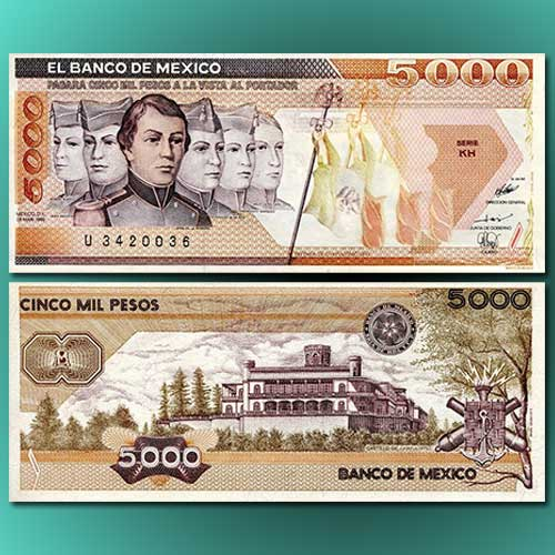 Mexican-5000-Pesos-banknote-of-1987
