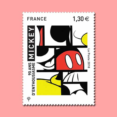 Mickey-Mouse-on-French-stamp