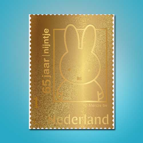 Miffy's-65th-birthday-24-carat-gold-stamp
