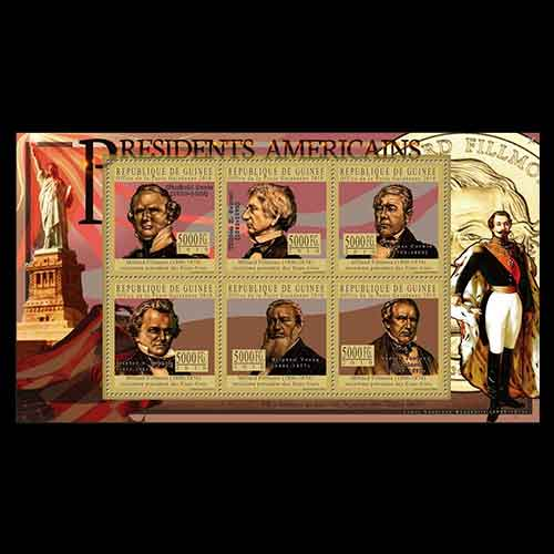 Miniature-Sheet-of-United-States-President-Millard-Fillmore