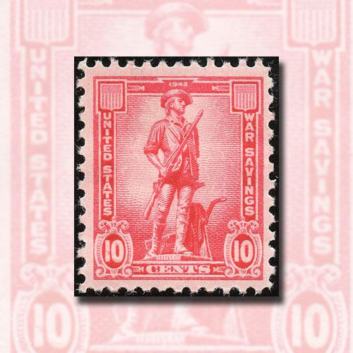 Minuteman-–-US-War-Savings-Stamp