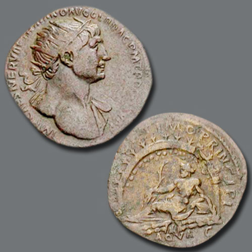 Monuments-on-Roman-coins-part-2:-Aqua-Traiana