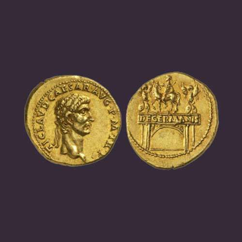 Monuments-on-Roman-coins-part-5:-Arch-of-Claudius