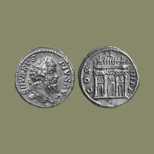 Monuments-on-Roman-coins-part-7:-Arch-of-Severus