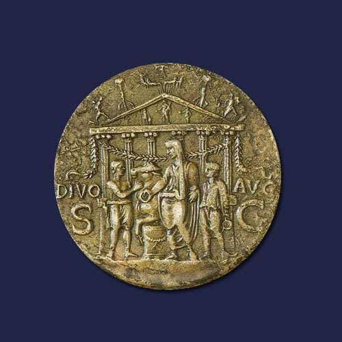 Monuments-on-Roman-coins-part-8:-Temple-of-Augustus
