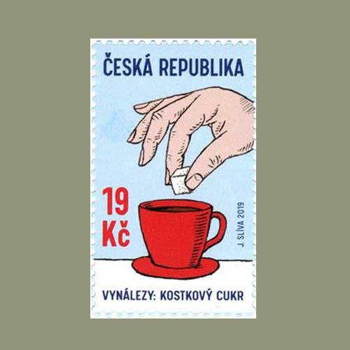 Most-famous-Czech-invention-on-stamp:-Sugar-Cube