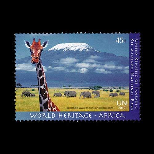 Mount-Kilimanjaro-on-stamp