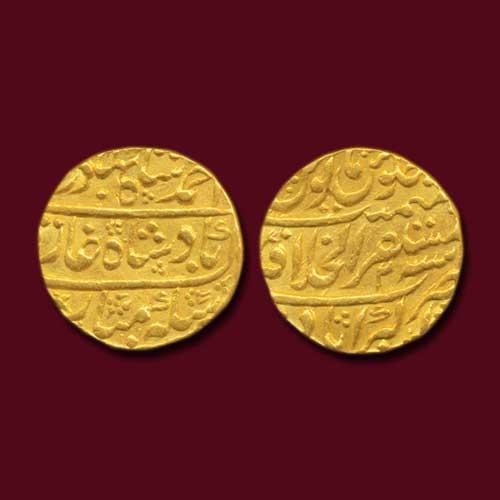 Mughal-Ruler-Ahmad-Shah-Bahadur-Gold-Mohur
