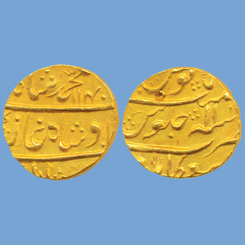 Muhammad-Shah-Gold-Mohur-Sold-For-INR-1,10,000
