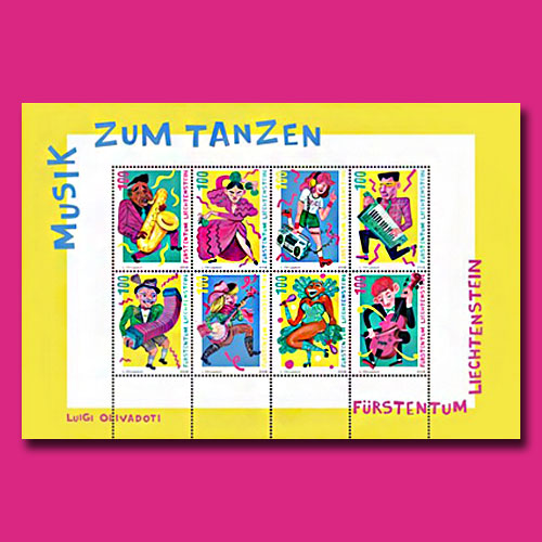 Music-for-Dancing-on-Liechtenstein-stamp