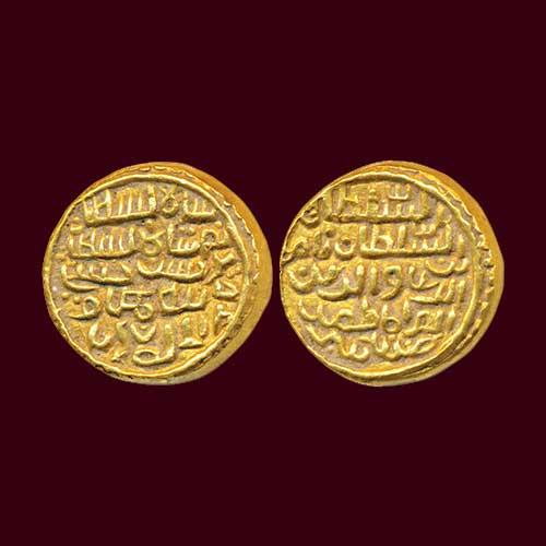 Nasir-al-din-Nusrat-Shah-Gold-Tanka-Sold-For-INR-1,50,000