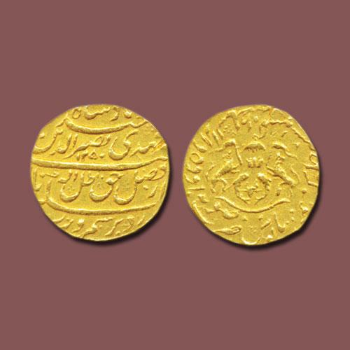 Nasir-ud-Din-Haider's-Gold-Half-Ashrafi-Listed-For-INR-1,80,000