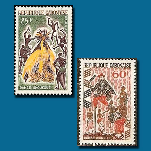 Native-Dances-Featured-on-the-Stamps-of-Gabon