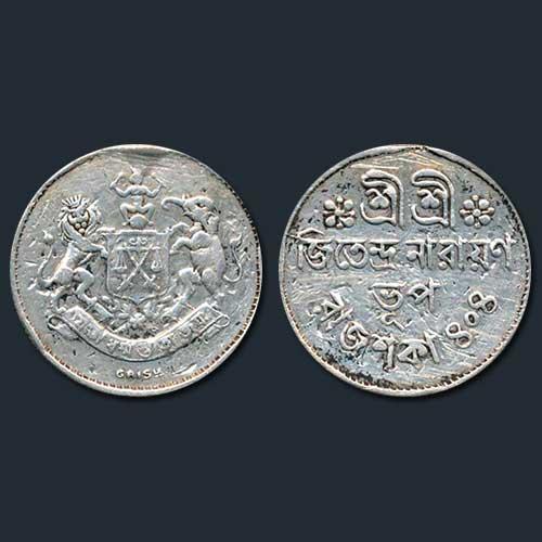 Nazarana-Half-Rupee-of-Jitendra-Narayan-of-Princely-State-Cooch-Behar