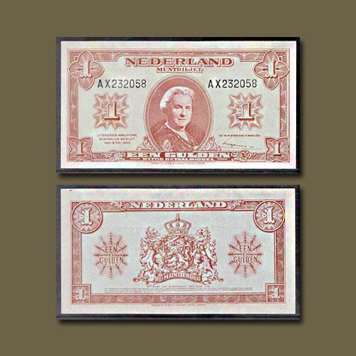 Netherlands-1-Gulden-banknote-of-1945