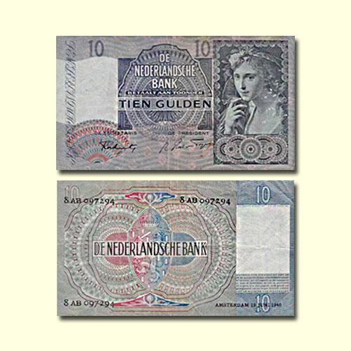 Netherlands-10-Gulden-banknote-of-1941