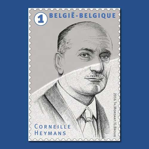 Nobel-winner-Corneille-Heymans-printed-in-commemorative-stamp