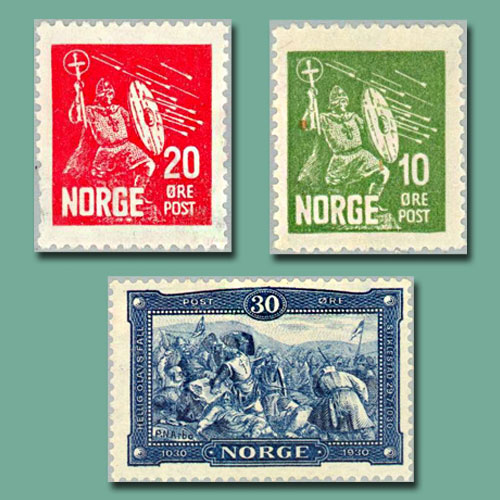 Norway's-St.-Olav-Stamps