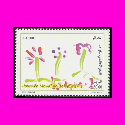 Observance-of-World-Autism-Day-via-Algerian-Stamp