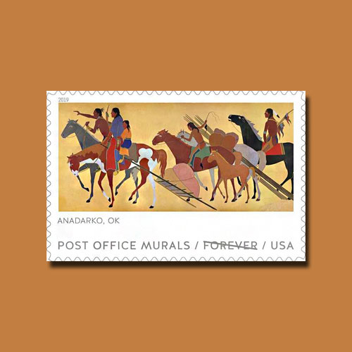Oklahoma-Mural-Featured-on-USPS-Stamp